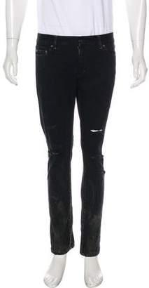 Saint Laurent 2016 D02 Distressed Skinny Jeans