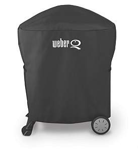 Weber Baby Q & Q Cover With Portable Cart Full Length
