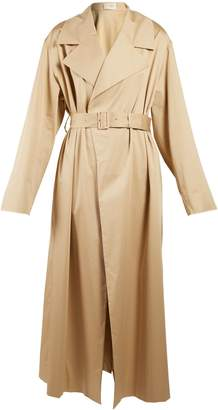 Moora notch-lapel trench coat