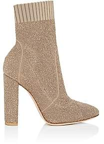 Gianvito Rossi Women's Isa Bouclé-Knit Ankle Boots-Bisque