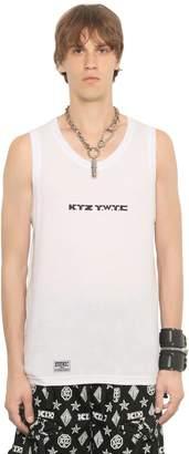 Kokon To Zai Printed Cotton Jersey Tank Top