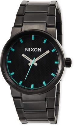 Nixon 39.5mm Cannon Bracelet Watch, Black/Blue
