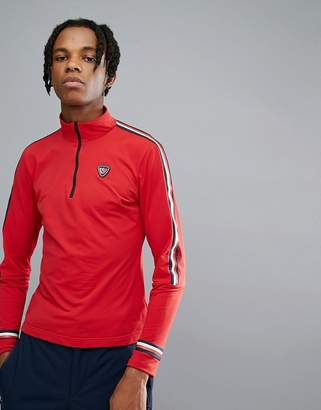 Tommy Hilfiger X Rossignol Ryan Tech Quarter Zip Long Sleeve Top in Red