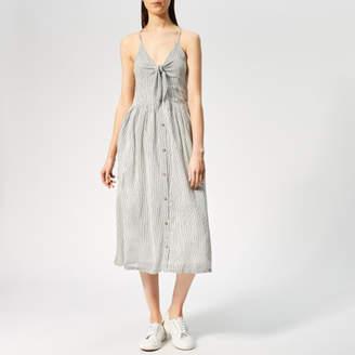 Superdry Women s Jayde Tie Front Midi Dress 5da363c1129
