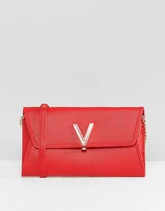 Mario Valentino Valentino By Foldover Clutch Bag In Red