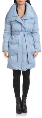 AVEC LES FILLES Belted Puffer Coat
