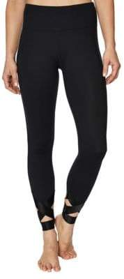 Betsey Johnson Banded Cutout Ankle Leggings