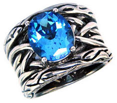 Effy Sterling Silver Blue Topaz Weave Ring