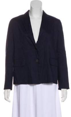 Vince Linen Long-Sleeve Blazer