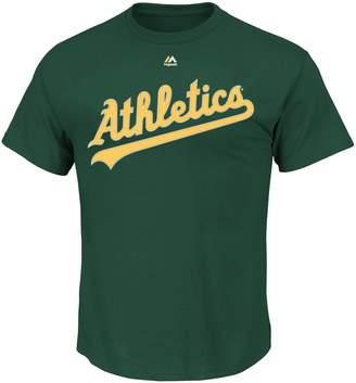 Majestic Men's Oakland Athletics Official Wordmark Tee