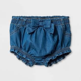 Cat & Jack Baby Girls' Jean Shorts with Bow Medium Wash