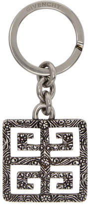 Givenchy Silver 4G Engraved Keychain