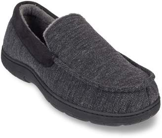 Men's Heat Keep Textured Jersey Venetian Moccasin Slippers