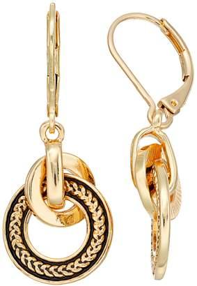 Dana Buchman Interlocking Circle Drop Earrings