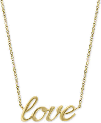 "Effy Kidz Children's Scripted ""Love"" 14"" Necklace in 14k Gold"