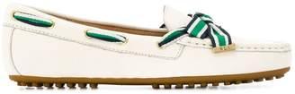 Lauren Ralph Lauren striped strap loafers