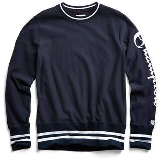 Todd Snyder + Champion Champion Graphic Reverse Weave Crewneck in Navy