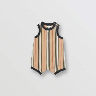 Burberry Childrens Icon Stripe Cotton Bodysuit