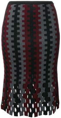 Diane von Furstenberg flared knitted skirt