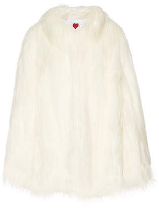 House of Fluff Yeti Convertible Oversized Faux Fur Coat - White
