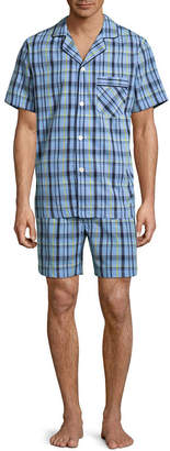 STAFFORD Stafford Men's Notch Collar Short Sleeve/ Short Leg Pajama Set - Big and Tall