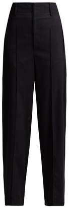 Isabel Marant Hami Striped Wool Blend Trousers - Womens - Navy