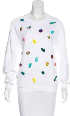 Stella McCartney Embellished Terry Cloth Sweatshirt