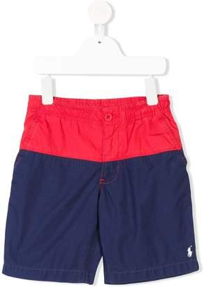 Ralph Lauren Kids colour blocked logo shorts