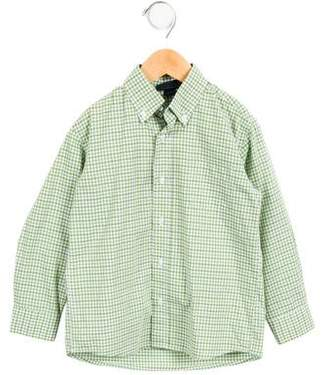 Oscar de la Renta Boys' Check Button-Up Shirt