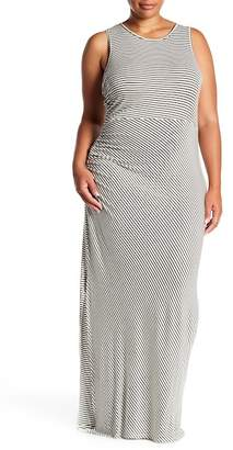 Bobeau Ruched Side Maxi (Plus Size)