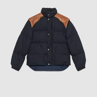 Gucci Wolf embroidered down jacket