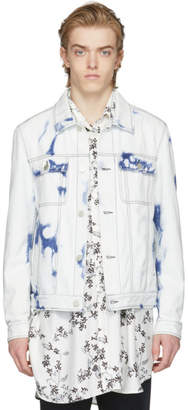 Wooyoungmi White and Blue Denim Ultra Washed Jacket