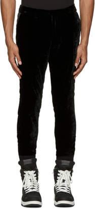 Diet Butcher Slim Skin Black Velvet Trousers