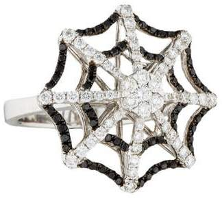 Ring 14K Diamond Spider Web Cocktail