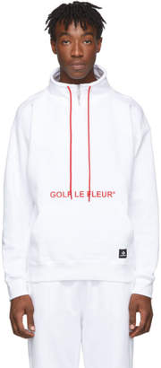 Converse White Golf Le Fleur* Edition Quarter Zip Pullover Sweatshirt