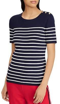 Ralph Lauren Striped Short-Sleeve Sweater