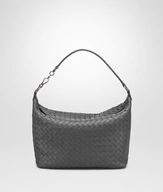 Bottega Veneta LIGHT GRAY INTRECCIATO NAPPA SMALL SHOULDER BAG