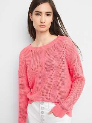 Gap Open-Stitch Pullover Sweater