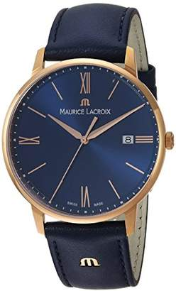 Maurice Lacroix Men's 'Eliros' Quartz Gold and Leather Casual Watch