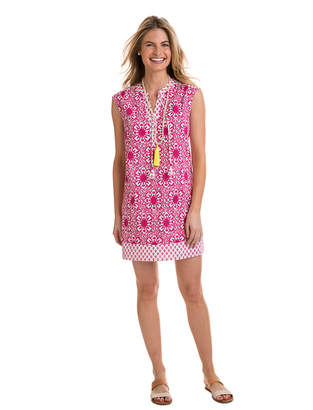 Vineyard Vines Tile Medallion Print Tunic Mix Dress