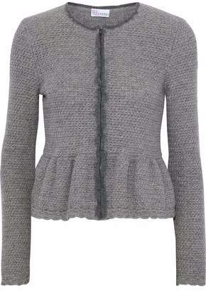 RED Valentino Wool And Cashmere-Blend Peplum Cardigan