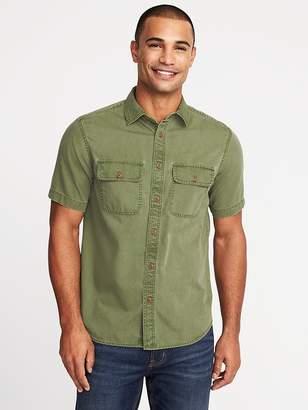 Old Navy Regular-Fit Garment-Dyed Utility Shirt for Men