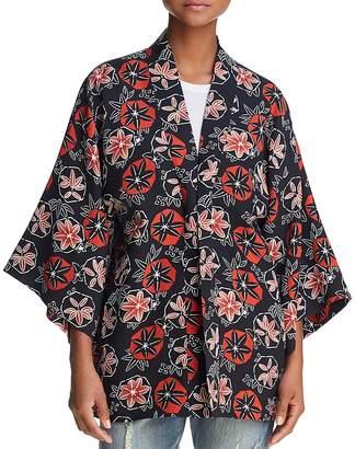 Elizabeth and James Drew Tangerine Pinwheel Kimono