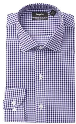 ESQ Check Slim Fit Dress Shirt