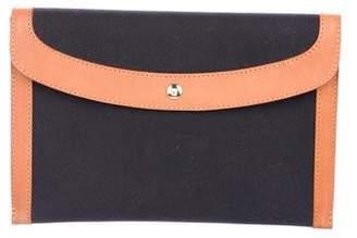 Mansur Gavriel Leather-Trimmed Envelope Clutch