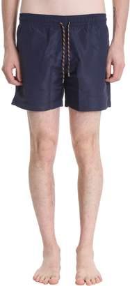 Stella McCartney Blue Polyamide Boxer Swimwear
