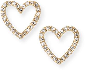 Ef Collection 14k Gold Diamond Open-Heart Stud Earrings
