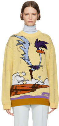 Yellow Looney Tunes Edition Road Runner Sweater