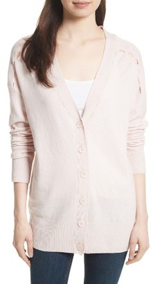 Women's Equipment Gia Wool & Cashmere Cardigan $368 thestylecure.com