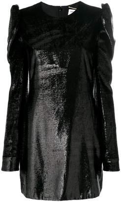 Saint Laurent metallic fitted dress